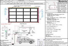 Shop Drawing Of 1 Piece Canopy Garage Door Made With Aluminum And Frosted Tempered Glasses